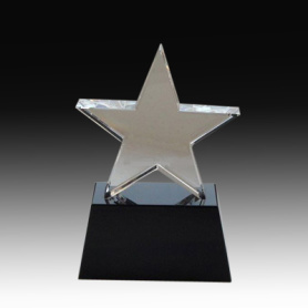 Wonderful Crystal Star Award with Nice Gift Box