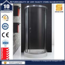 Изогнутые пользовательские ванной Раздвижные стеклянные двери душ с рамкой