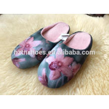 Latest 3D printing fluffy indoor slippers design print slipper winter warm indoor slippers