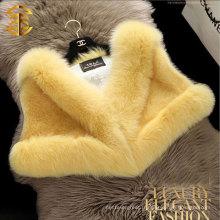 2015 fourrure en peau de vison multicolore à la vente chaude pour femme avec châle en col de renard