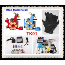 Tattoo Kits 2 New Machine Gun Power Needles 7 Ink