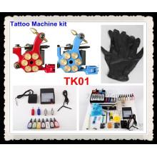 Tattoo Kits 2 neue Maschinengewehr macht Nadeln 7 Tinte