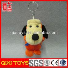 Bonito mini brown stuffed plush dog toy pelúcia cão keychain
