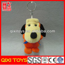 Милый мини-коричневого плюша собаки игрушки плюшевые собака брелок