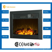 "34"" classic insert electric fireplace large room heater 110-120V/60Hz"