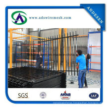 Black Powder Coated Galvanized Decorative Tubular Gates and Steel Fence Garden Fence