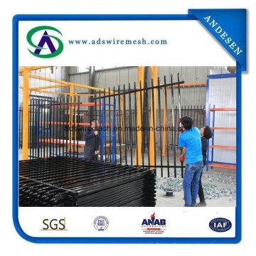 Black Powder Coated Galvanized Decorative Tubular Gates and Steel Fence Garden Fence