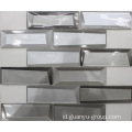 White 3D Effect Crystal Glass Mosaic