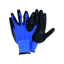 13G Guante de poliéster azul U3 con nitrilo revestido