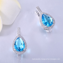 Manufacturer Supplier wholesale cubic zirconia earrings findings with cheapest price