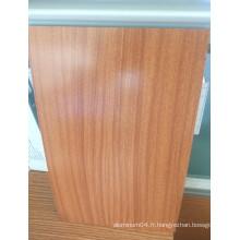 Bobine de revêtement en couleur PVDF en bois et en bois