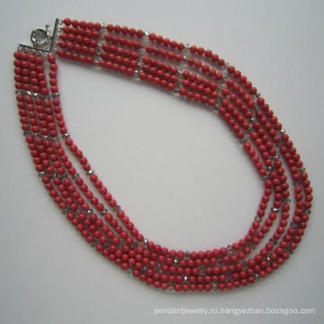 Длинные Multi стенды кораллов и кристалл ожерелье