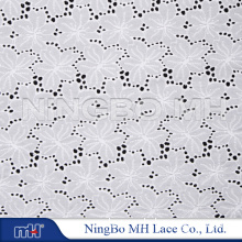 """Lace Fabric White Cotton Flower Embroidery Wedding Fabric 59"""" Width M200193G"""