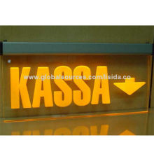 Edge Lit Acrylic LED Sign Board with Laser Engraved Display Panel