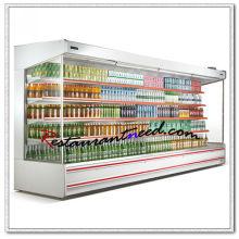 R279 4 Layers Split Type Beverage Open Showcase