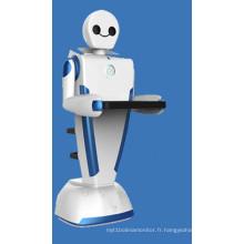 3ème robot de service pour la livraison de restaurant Robot de nourriture Serveur