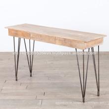 Industrie-Mango-Holz-Metall-Beine Konsolentisch
