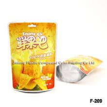 Levántese el paquete de envasado de alimentos congelados de frutas