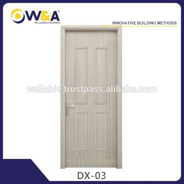 Moderne weiße flache hölzerne Verkleidung Innenraum WPC Türen Hersteller