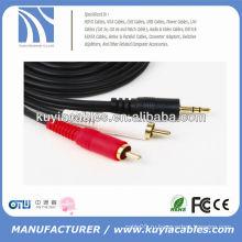 6FT 3,5 мм разъем для кабеля 2RCA VIDEO CABLE