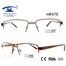 Newest Style Half Frame Metal Glasses Spectacle Frame (HR479)