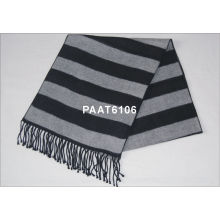 Fashion Gray And Black Woven Silk Scarf For Men And Women