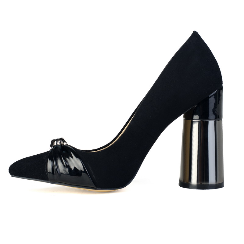 good quality thick heel black elegant sexy