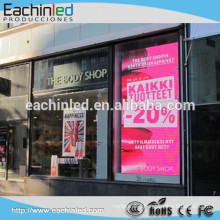full colour LED video display board or a low budget shop window screen Full colour LED video display board or a low budget shop window screen