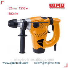 china rotary hammer drill 32mm 1250w 800r/m qimo power tools