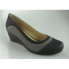 Short Heel Female Lady Women Leather Office Shoes