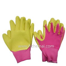 Children′s Colorful Gardening Gloves Foam Latex Palm Coated Work Glove