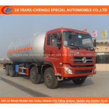 8X4 10 tanques de gasolina móveis da roda, posto de gasolina móvel do LPG, caminhão móvel do posto de gasolina