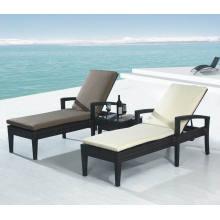 Jardim Rattan vime ao ar livre do pátio mobiliário praia Sunlounger