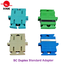 Sc Duplex Standard Plastic Fiber Optic Adapter