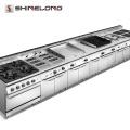 2017 900 Serie Industrielle Gas / Elektrische Teppanyaki Grill Griddle Kommerziellen