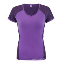 Venta al por mayor Moda Mujer T-Shirt de algodón personalizado