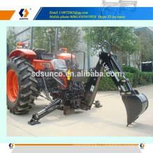Excavatrice arrière pour le tracteur, machine rétrocaveuse tractable utilisée