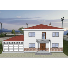 Nuevo diseño chino económico Lgs Villa de acero ligero