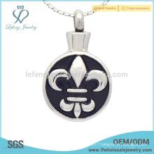 Enamel silver keepsake pendants ashes cremation,special ashes keepsake jewelry