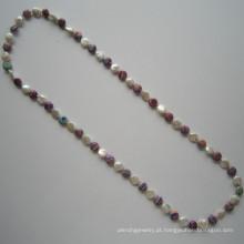 Long Hot vender colar de pérolas de água doce, moda jóias
