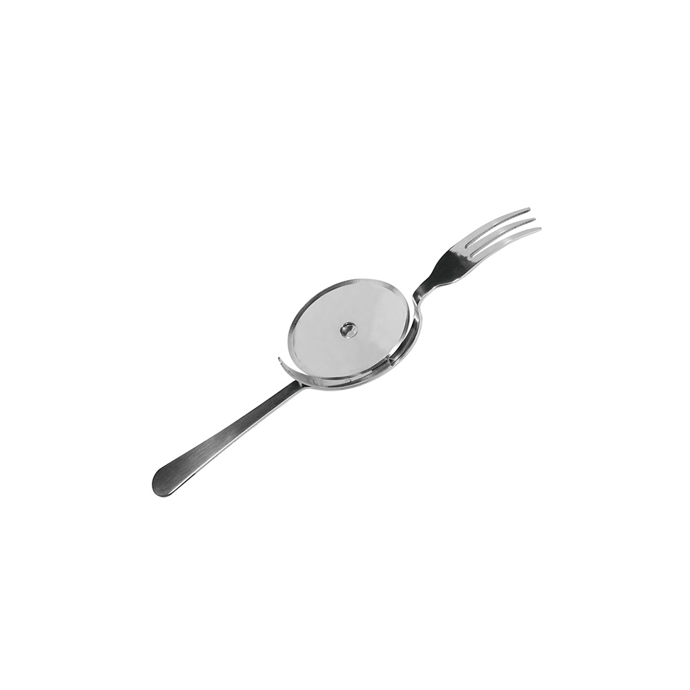 Pizza wheel/fork 2 in 1