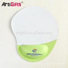 Alfombrillas de ráton de encargo impresas promocionales del logotipo de la fabricación con la ayuda de la muñeca del gel