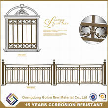 Simple Wrought Iron Galvanized Steel Security Panel Fencing