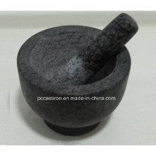 Granit Mörser und Pestles Größe 15X11cm