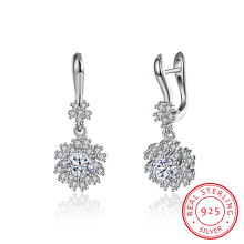 925 Sterling Silver Western Hot Sale Snow Shape Earrings