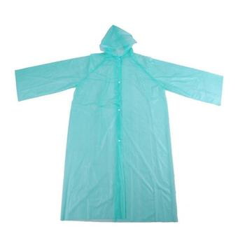 Light Green PE Disposable Raincoat