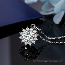 Star Snowflake High Carbon Diamond Moissan Diamond Pendant S925 Sterling Silver Women′ S Jewelry Fashion Jewellery Clavicle Chain Bling Bling Necklace