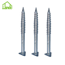 Triangle Ground Screw Pole Anchor With Flange