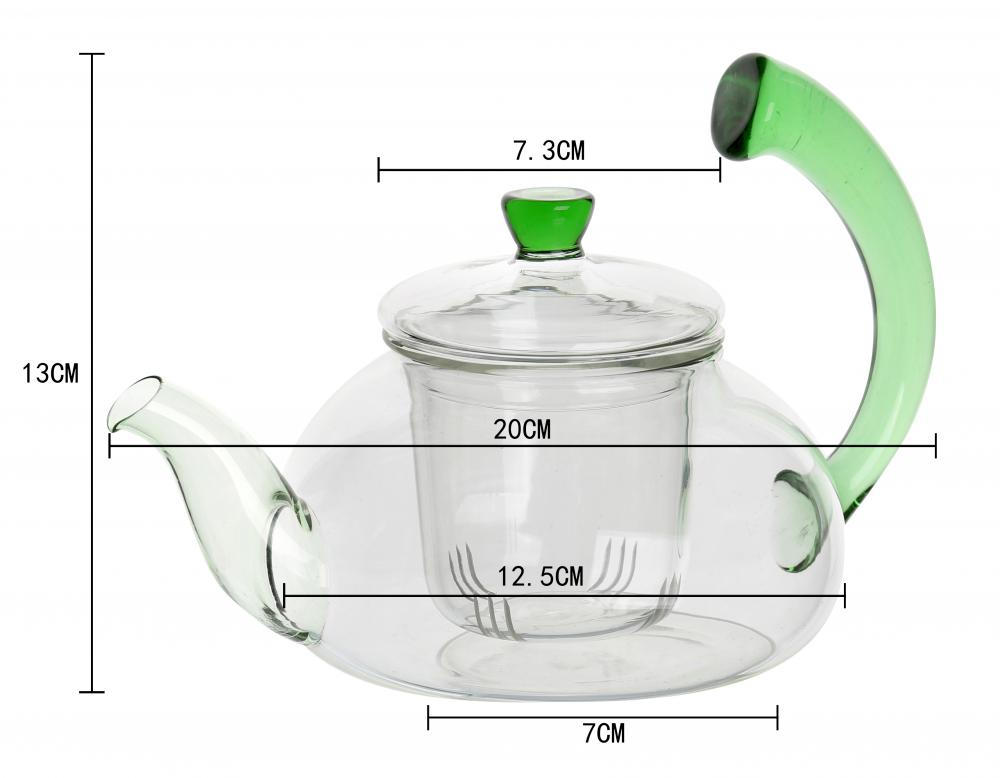 600ml New Design Glass Teapot Tea Kettle