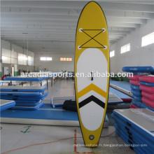 Bodyboard gonflable de surf de paddleboard de grande taille avec la laisse